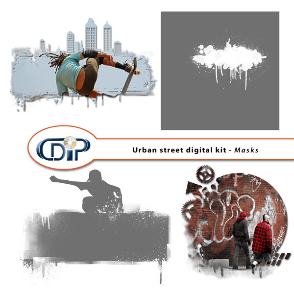 """Urban Street"" digital kit - 08 - Masks"