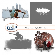 """Urban Street"" digital kit - 08 - Masks"