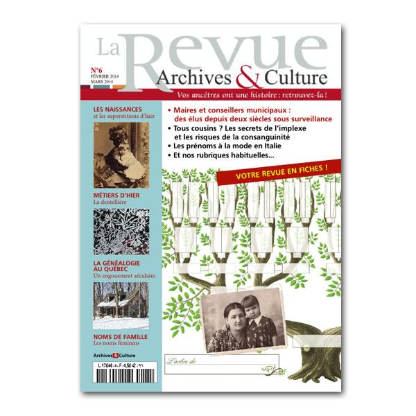 Le numéro 6 de la revue Archives et Culture