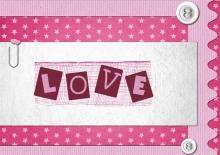 Modèle de carte « Cartes d'amour » - 17 - Compositon
