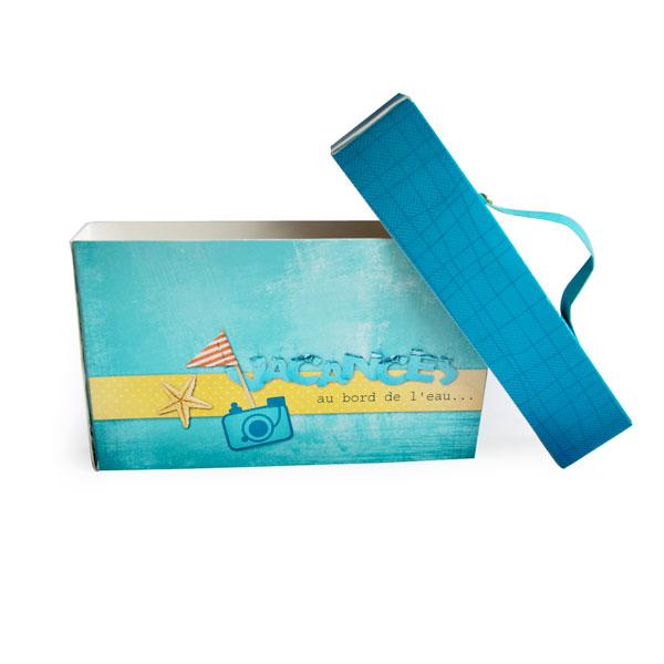 Mini-album « Vacances au bord de l eau » - 01 - La valise