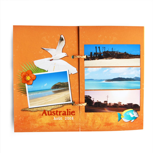 Mini-album « Vacances au bord de l eau » - 04 - Les pages 3