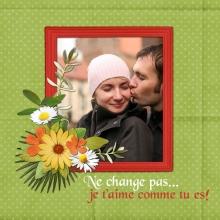 Modèle de carte « Cartes d'amour » - 20 - Compositon