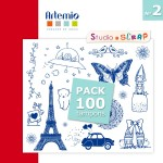 pack-100-tampons-artemio-2-patchwork
