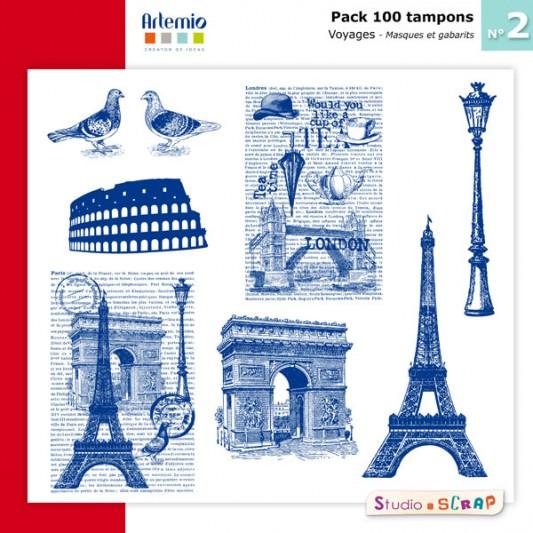 pack-100-tampons-artemio-2-presentation-masques-gabarits-voyage