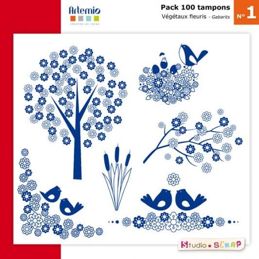 pack-100-tampons-presentation-gabarits-fleurs