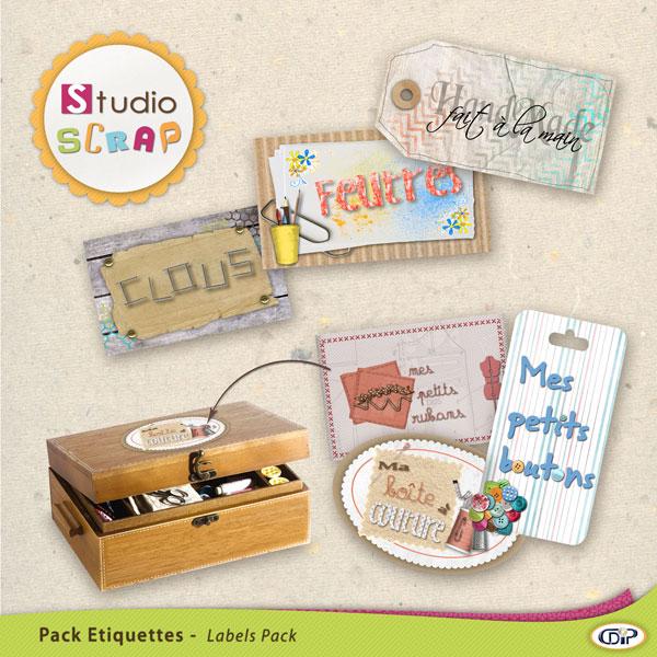 """Mini-pack de stickers """"Bicolage et Loisirs"""""""