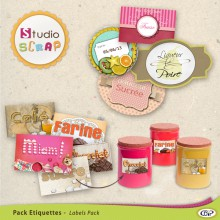 "Mini-pack de stickers ""Épicerie"""