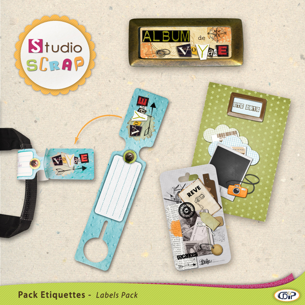"Mini-pack de stickers ""Voyage"""