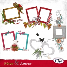 Love and parties cluster frames presentation - 1