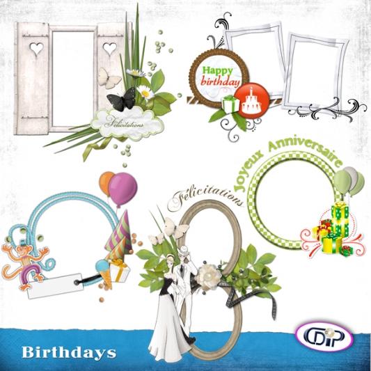 Cluster frames - 05 - Birthdays