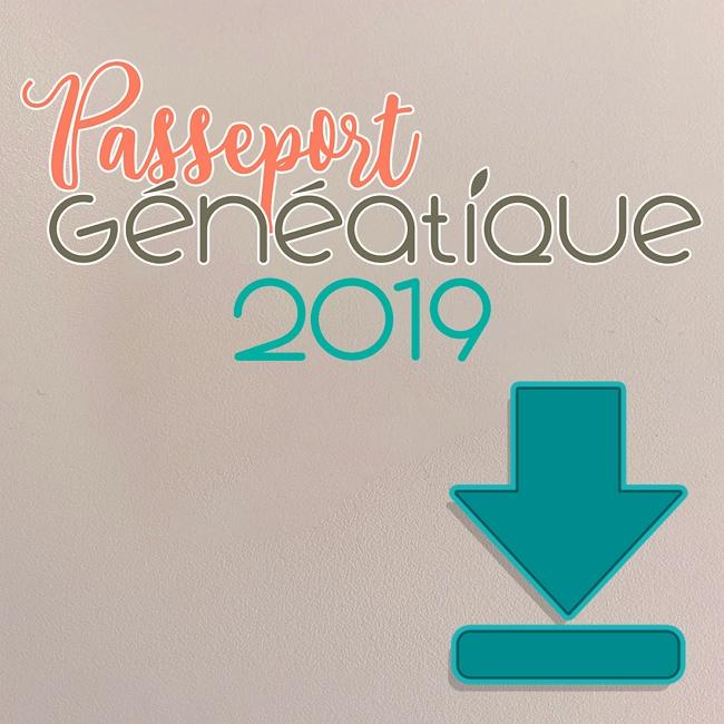 Passeport 2019 Généatique en téléchargement