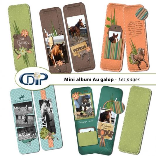 Mini-album « Au galop » - 01 - Les pages