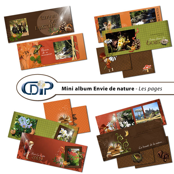 Mini-album « Envie de nature » - 01 - Les pages