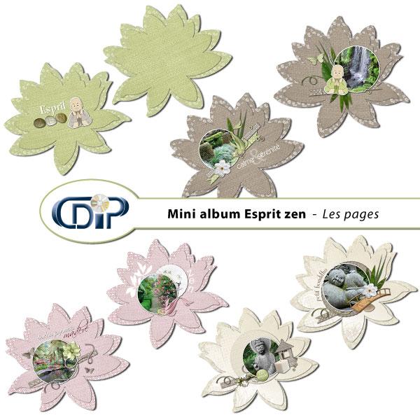 Mini-album « Esprit zen » - 01 - Les pages