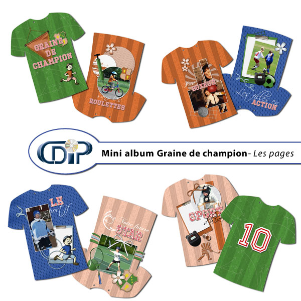 Mini-album « Graine de champion » - 01 - Les pages