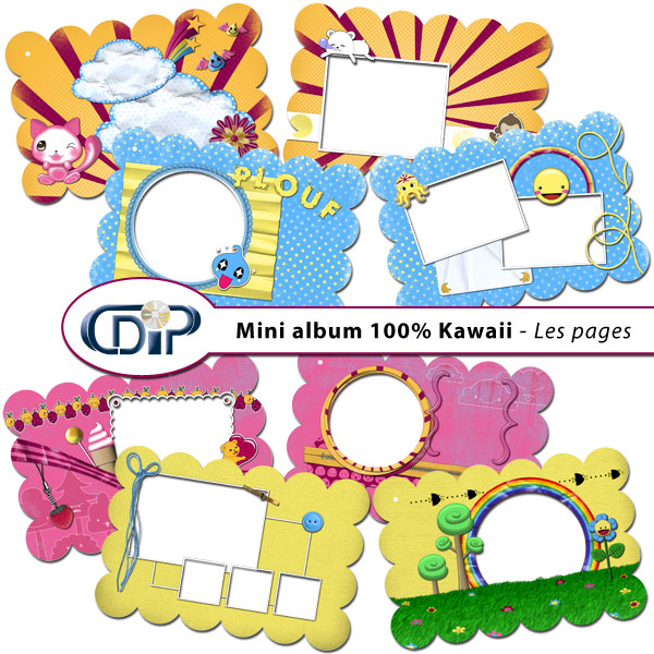 Mini-album « Un jeu d'enfant » - 01 - Les pages