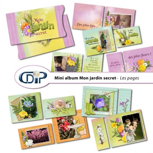 Mini-album « Mon jardin secret » - 01 - Présentati