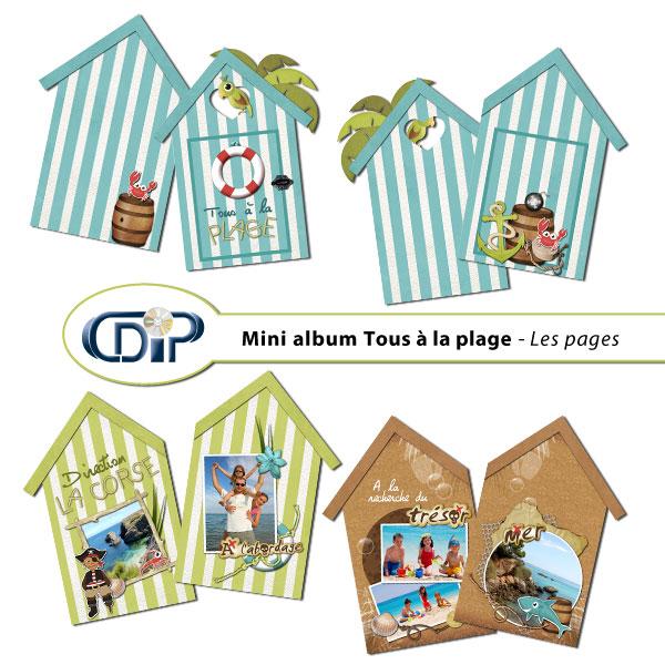 Mini-album « Tous à la plage » - 01 - Les pages