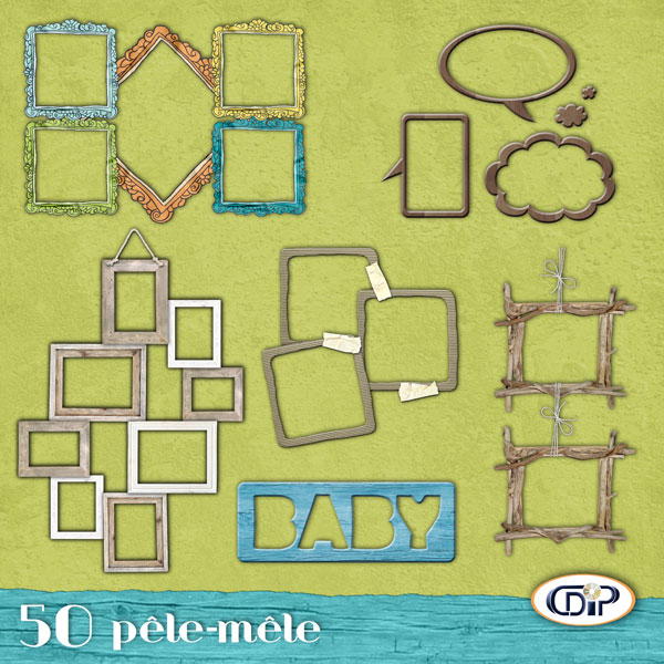 pack 50 p le m le en t l chargement cdip boutique logiciel de g n alogie et scrapbooking. Black Bedroom Furniture Sets. Home Design Ideas
