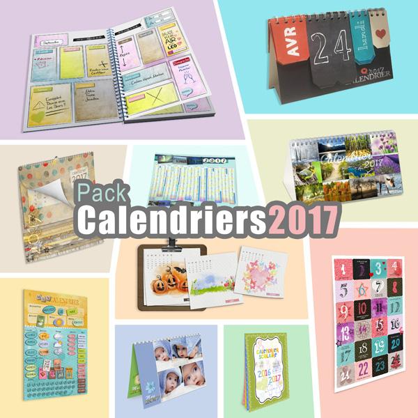 Pack « Calendrier 2017 » en téléchargement