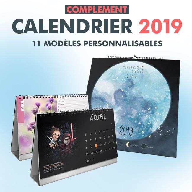 Pack « Calendriers 2019 » en téléchargement