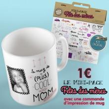 Mug photo panoramique + Mini-Pack « Fête des mères »