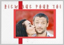 Modèle de carte « Cartes d'amour » - 21 - Compositon