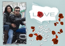 Modèle de carte « Cartes d'amour » - 22 - Compositon