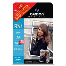 Papiers - 15 - Canson photo - satiné - 210g - promo