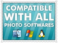 Compatible with all photo softwares
