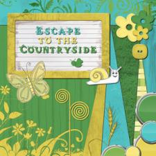 « Escape to the countryside » digital kit