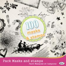 Pack of 100 Masks & Stamps