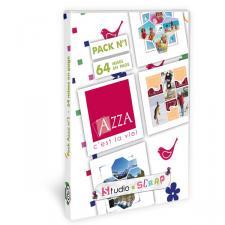 Pack Azza n°1 - 64 mises en page - Scrapbooking en coffret