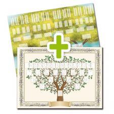 Pack 2 arbres imprimés 5 et 6 générations format A2