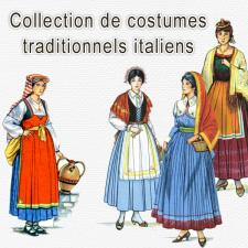 Collection de costumes traditionnels italiens