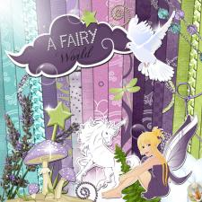 « A Fairy World » digital kit