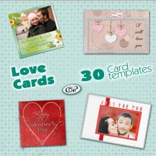 """Love"" card templates"
