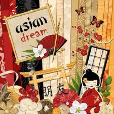 "Digital kit ""Asian Dream"""