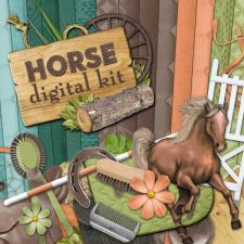 """Horse"" digital kit"