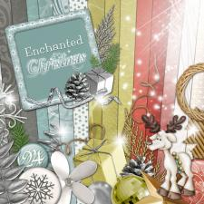« Enchanted christmas » digital kit