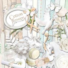 "Digital kit ""Cotton Flower"""