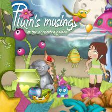 "Digital Kit ""Plum's musings at the enchanted garden"""