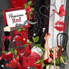 "Digital kit ""Passion red"" by download"