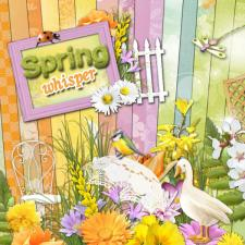 "Digital kit ""Spring whisper"""