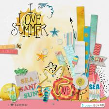 Kit « I ♥ Summer » en téléchargement