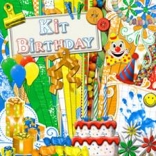 "Digital kit ""Birthday"""