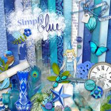 "Digital kit ""Simply blue"" by donwload"