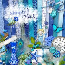 "Digital kit ""Simply blue"" by donwload"