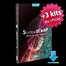 """Pack """" Trio """" avec Studio-Scrap 8 Deluxe  - 3 kits à choisir plus tard en téléch"""